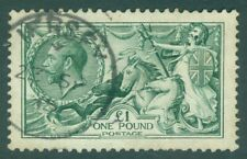 SG 404 £1 dull blue-green. Very fine used with a Guernsey CDS. Good colour &...