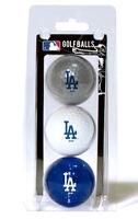 MLB Los Angeles Dodgers Regulation Golf Balls 3 Pack Sleeve Putting Club