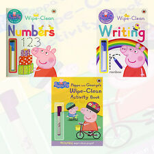 Peppa Pig Wipe Clean Collection 3 Books Set (writing Numbers Activity Book) Paperback – 2015