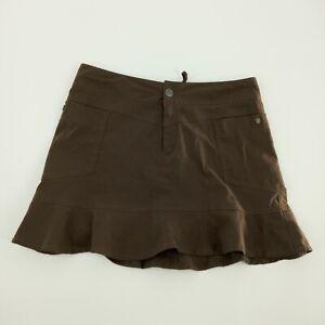 Women's ATHLETA Kick It Green Peplum/Ruffle Skirt Size 4P