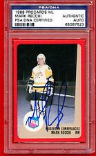 1988 Procard IHL Mark Recchi PSA/DNA Certified Authentic AUTO LumberJacks Bruins