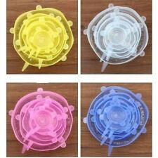 6pcs Reutilizável Silicone Stretch Tampas Wrap Bowl Selo Capa Cozinha Manter a comida fresca