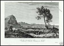 SICILIA SALA  PARTINICO Stampa Antica Originale 1800