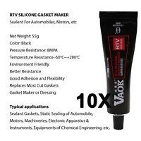 10 x Brand Black 55G RTV Silicone Gasket Maker Exhaust Sealant Gasket Silicon
