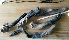 6 Piece Faux Wood decorative Logs to decorate Electric Fireplace - READ