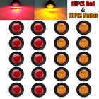 Pseqt Marker Lights 34 Led Truck Trailer Round Clearance Side Light Amber Red