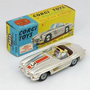 Corgi Toys 303S Mercedes Benz 300SL Open Roadster - Die Cast Vintage Boxed