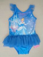 BNWT Mothercare Girls Disney Cinderella Tutu Swimsuit Swimming Costume 2-3 years