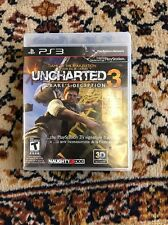 Uncharted 3: Drake's Deception  (Sony Playstation 3, 2011) Ps3 w/ Case