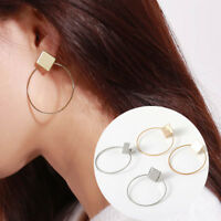 Fashion Simple Earrings Women's Square+Round Geometric Hanging Earrings Jewelry