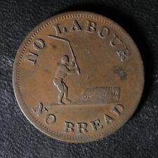 UC-4A1 Halfpenny token Upper Canada Ontario No labour No bread Breton 1010