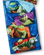 Nickelodeon Mutant Ninja Turtles Boys Sleepover Blue Sleeping Bag Plush Fill