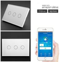 1/2/3 Gang Smart WiFi APP Remote Control Wall Light Touch Switch Panel for ALEXA