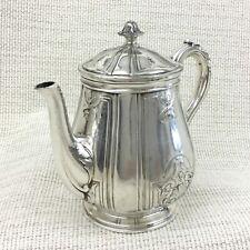 Christofle Silver Plated Teapot Villeroy Bachelor Pot Antique French Art Nouveau