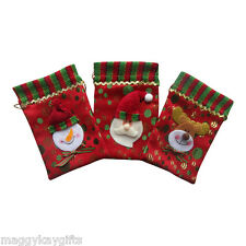 Wholesale JOB Lots -  Red Mini Christmas Sweetie Gift Jewellery Party Bag Santa