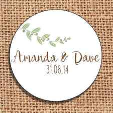 Wedding favour stickers save the date personalised  120 rustic shabby chic e