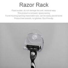 Home Plastic Suction Cup Razor Rack Bathroom Shower Razor Organizer Holder DE