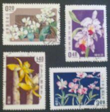 TAIWAN-TAJWAN STAMPS - Taiwan Orchids, 1958, used
