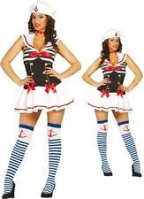 Womens Sailor Nautical Fancy Dress Costume