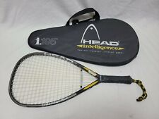 """HEAD INTELLIGENCE i.195 3 5'8"""" Racquetball Racket Racquet w Cover-EXC SHAPE!"""