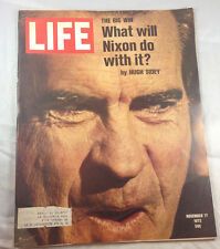 What Will Nixon Do with it? Hugh Sidey Nov 17 1972    Life Magazine Vintage