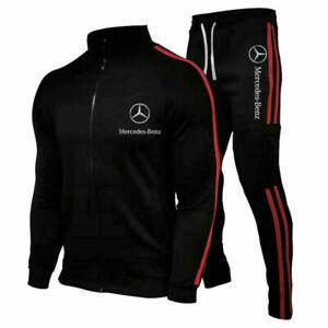 Mercedes-Benz Logo Herren Sweatshirt+Hose Set Sportanzug Jogginganzug ohne Mütze