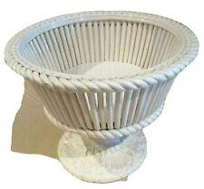 PORTA BISCOTTI Vassoio Ceramica Bianco Contenitore Vintage anni '70 Shabby Chic
