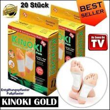 20 Stück Kinoki Bambuspflaster Vitalpflaster Fußpflaster Fußpads Entschlacken