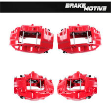 Front + Rear Red Powder Coated Brake Calipers Fit FX50 G37 G37X Q50 350Z 370Z