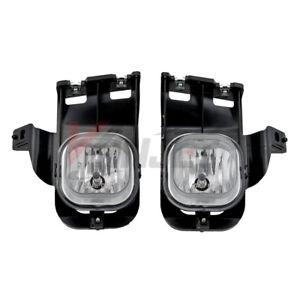 For 2006-2007 Ford Ranger Clear Lens Chrome Housing Replacement Fog Light Lamp