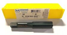 Morse 3/4-16 Hand Tap GH3 HSS Bottoming Tap 4 Flute Black Oxide USA Made