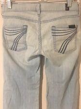 7 FOR ALL MANKIND Crop Dojo Women's Light Blue Jeans Capris - Size 25 - 29Wx20L