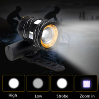 USB Rechargeable XML T6 LED Bicycle Bike Front Light Cycling Head Lamp Raillight
