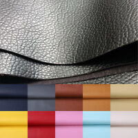 Lychee Faux Leather Sheet PU Vinyl Fabric For Sewing Bag Clothing Sofa GIFT DIY