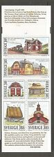 Sweden SC # 2173a Historic Buildings. Complete Booklet