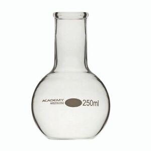 250ML BOROSILICATE GLASS ROUND FLASK FLAT BOTTOM