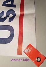 High Visibility Orange Grommet Tabs for Tyvek Ground Sheet Tent Footprint Tarp