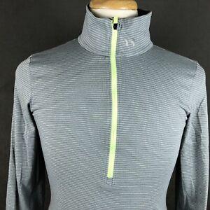 Under Armour Run Fitted Running Shirt Medium Thumb Holes HeatGear Athletic Gear