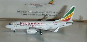Gemini Jets 1:400 - Ethiopian Airlines 737-700   #ET-ALK   -   box wear