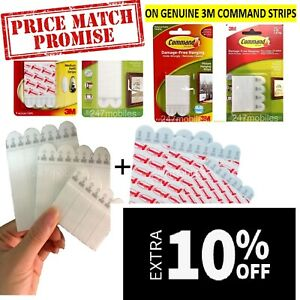 3M Command Strips Adhesive Damage Free Wall Hanging Pictures Frames Posters™️