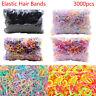 3000pcs/lot Rubber Hairband Rope Ponytail Holder Elastic Hair Band for girl kids