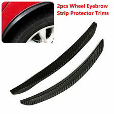 2 PCS Carbon Fiber Car Wheel Eyebrow Arch Trim Lips Fender Flares Protector Kit