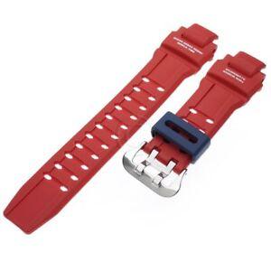 Genuine Casio Watch Band G-Shock Gravitymaster GA-1100-2A Red/Blue Rubber Strap