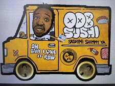 "Wu Tang Old Dirty Bastard Vinyl Decal Sticker 5.3"" x 7.5"" (ODB Sushi Truck)"