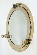 """20"""" Brass Porthole Mirror ~ Porthole ~ Ship Porthole ~ Nautical Decor ~ Maritime"""