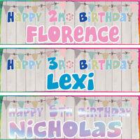 2 x personalized birthday banner bunting decoration children children party deco
