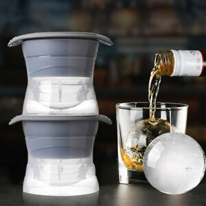 Large Ice Ball Cube Maker Sphere Mold Round Jelly Mould for Cocktail Whiskey