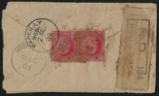 INDIA 1909 UPRATED REGISTERED POSTAL COVER TO BAREILLY