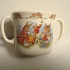 RARE Royal Doulton Bunnykins 2 Handle Cup - Sewing Playing Tooting- Display only