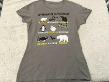 Animals Of The World Funny Humor Gray Graphics T-Shirt - Women's S